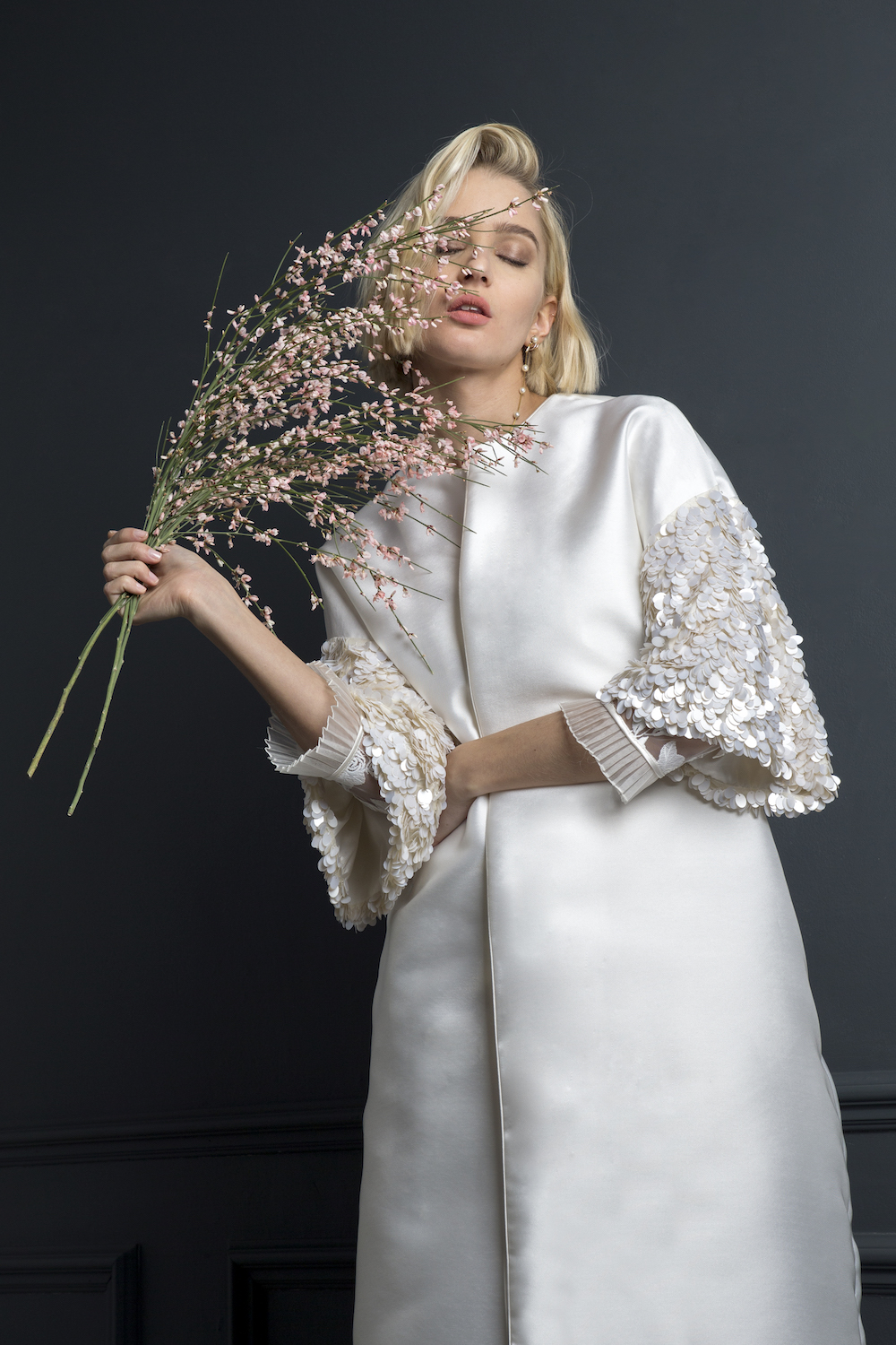 DUFFY COAT | WEDDING DRESS BY HALFPENNY LONDON