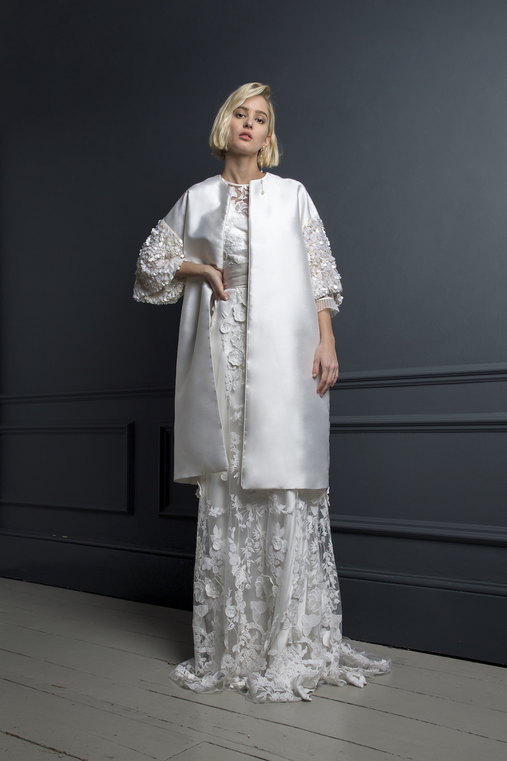 DUFFY COAT, BOBBIE TOP & BAY SKIRT | WEDDING DRESS BY HALFPENNY LONDON