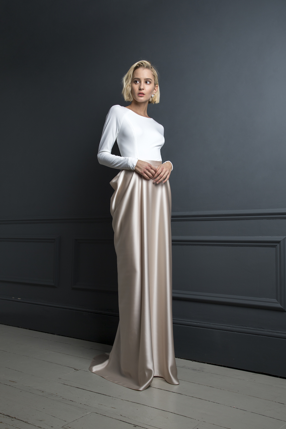 GORDON TOP & JAMES SKIRT | WEDDING DRESS BY HALFPENNY LONDON