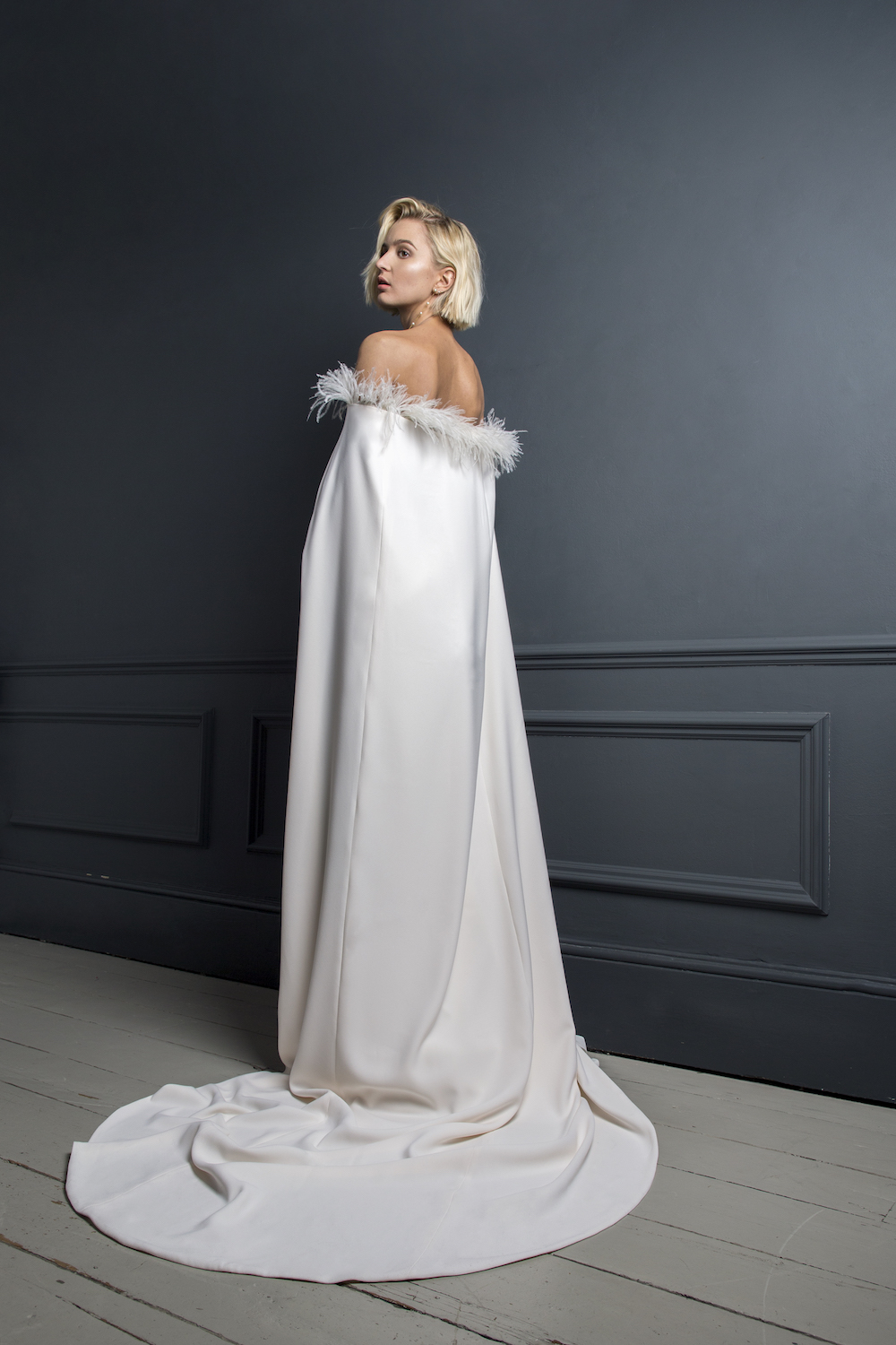 JOSEPH CAPE | WEDDING DRESS BY HALFPENNY LONDON