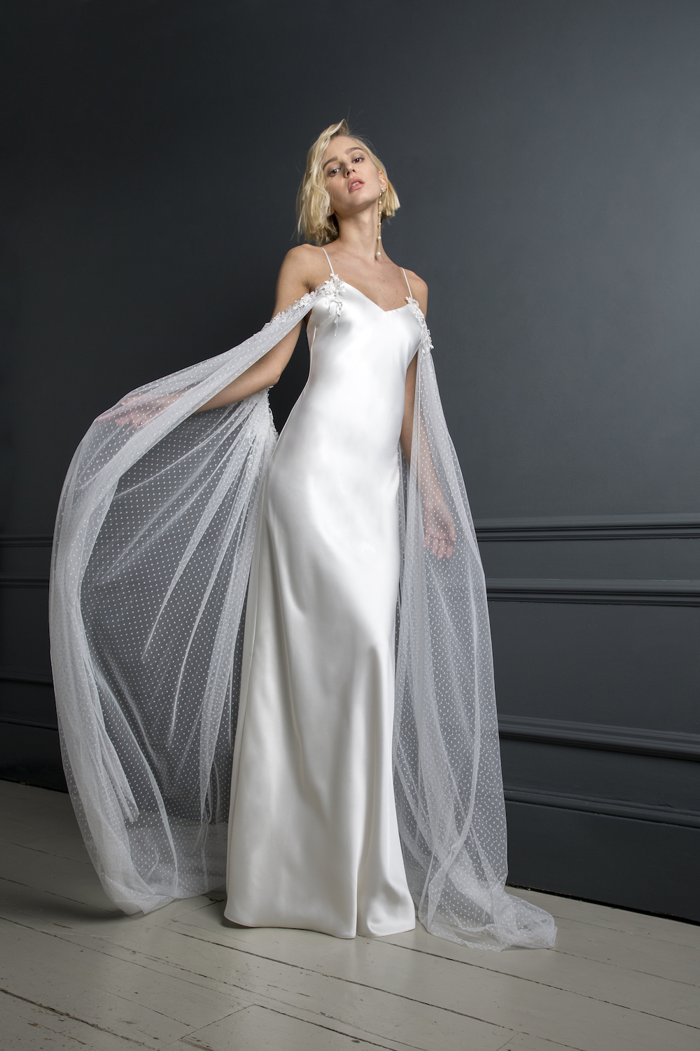 PETER CAPE & IRIS SLIP | WEDDING DRESS BY HALFPENNY LONDON