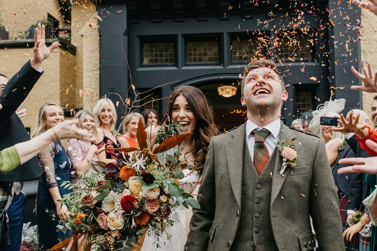 Beautiful bride Heather wore bridal separates by Halfpenny London