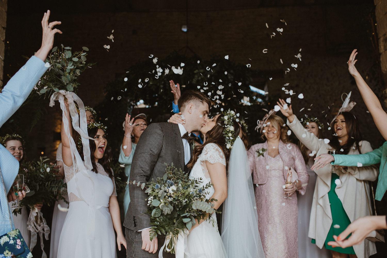 Beautiful bride Kristy wore a wedding dress by Halfpenny London