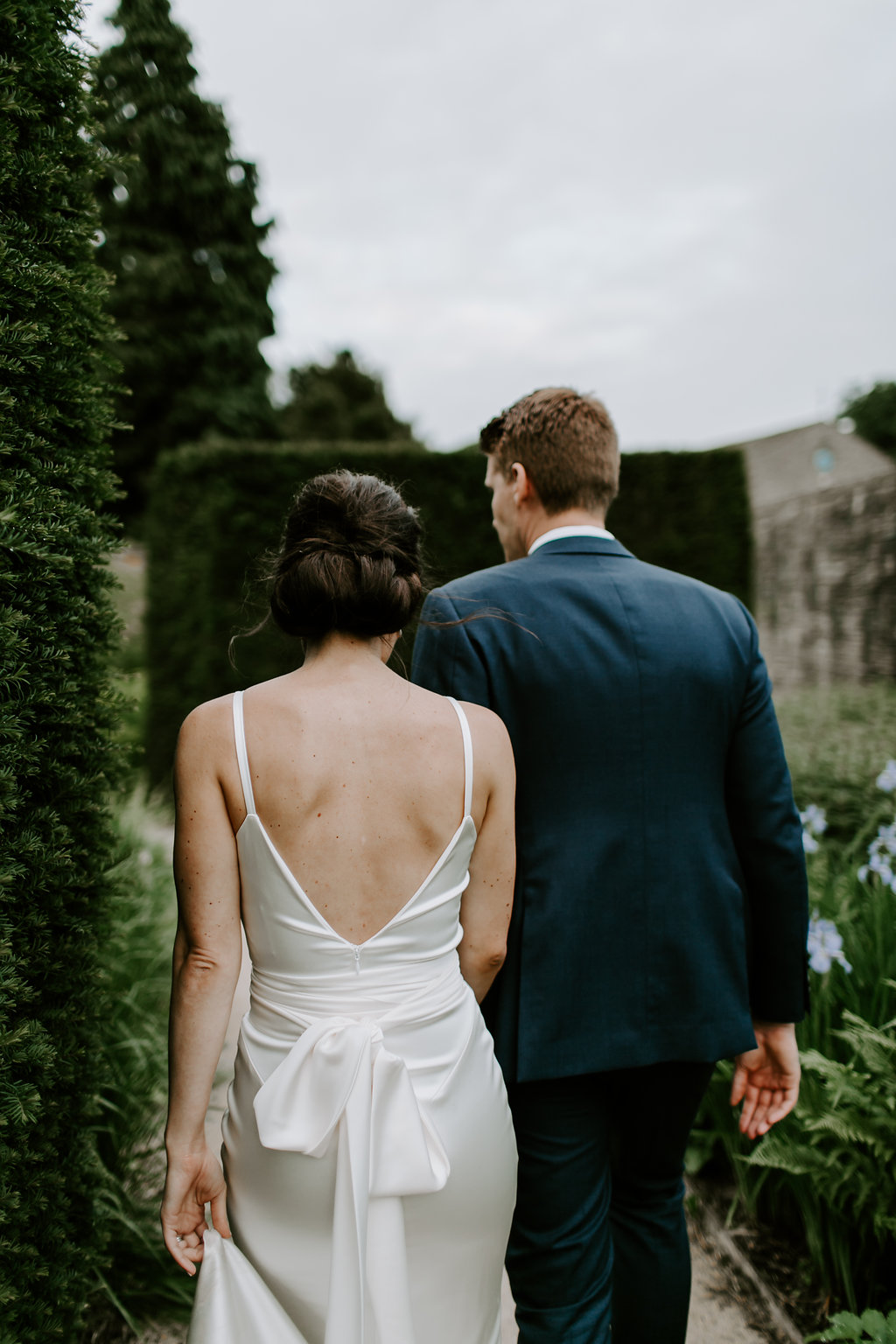 Beautiful bride Victoria wore a wedding dress by Halfpenny London