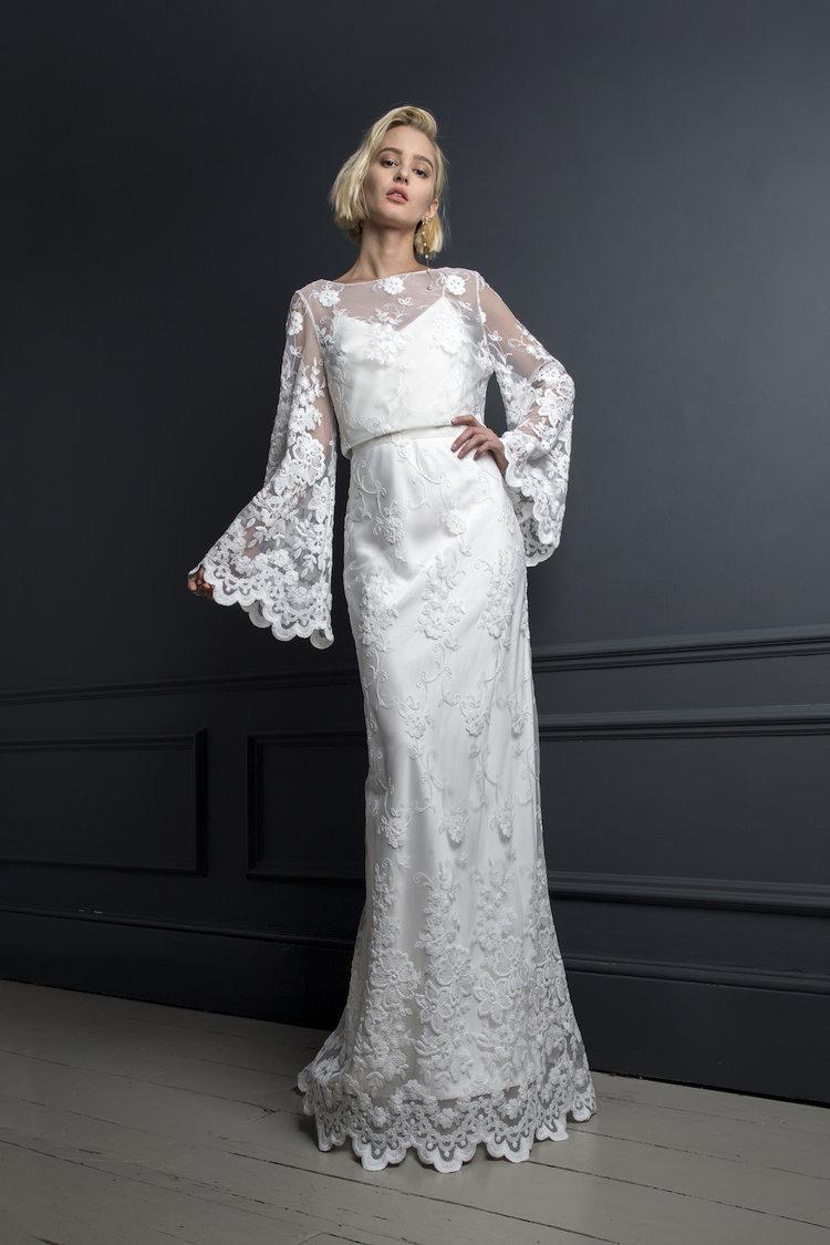 CHARLIE TOP & SKIRT | WEDDING DRESS BY HALFPENNY LONDON