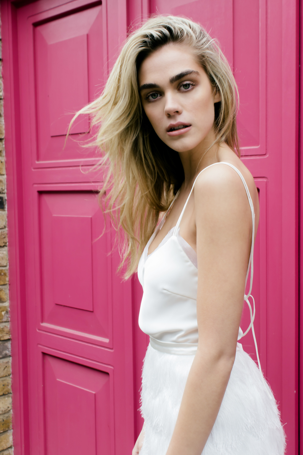 Lenny top and Turner skirt by Halfpenny London | Available on Net-A-Porter