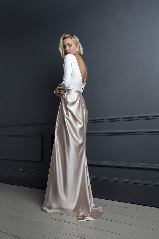 GORDON TOP & JAMES SKIRT | WEDDING DRESS BY HALFPENNY LONDON