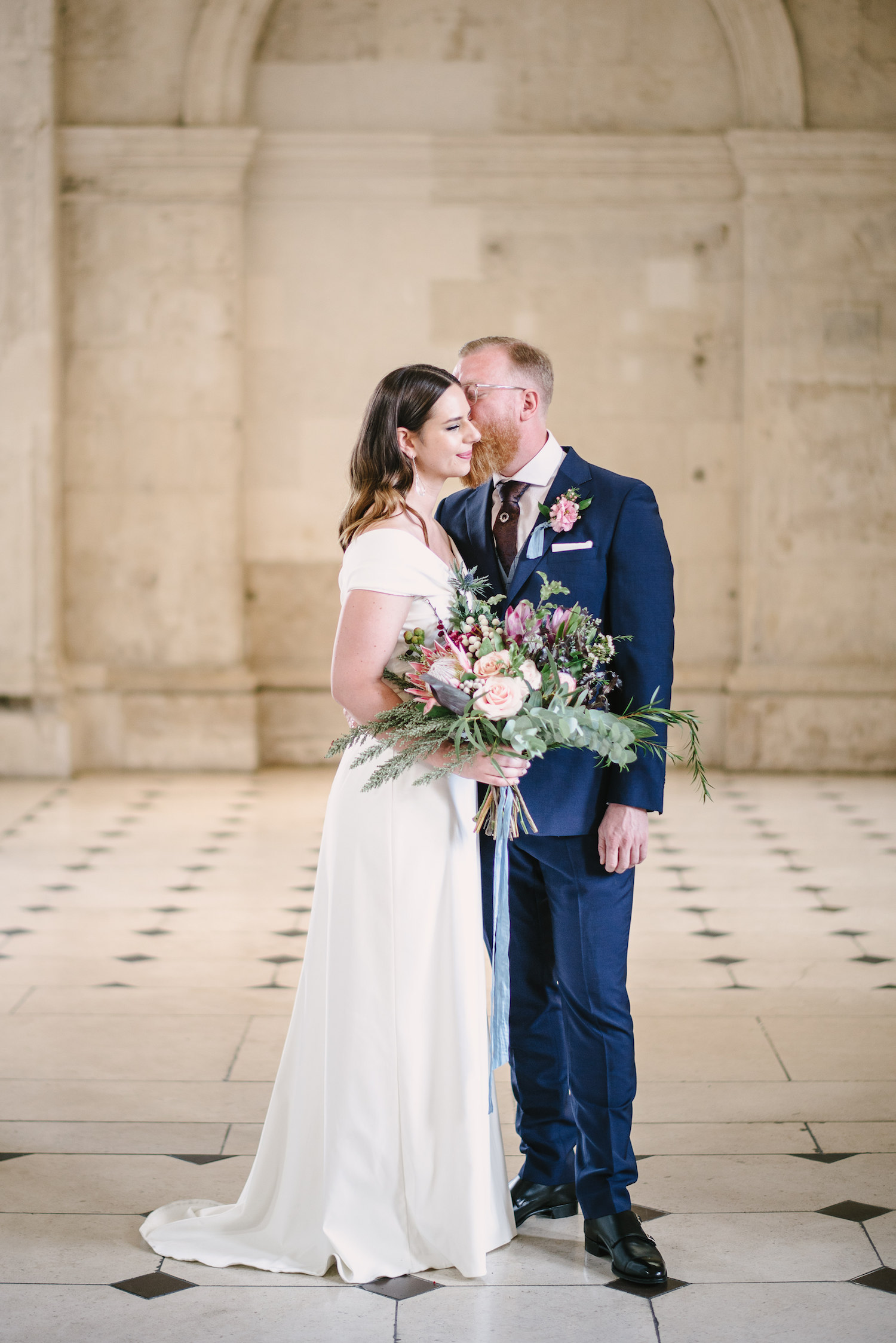 Beautiful bride Megan wore a wedding dress by Halfpenny London