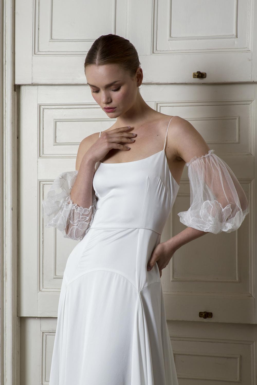 FINSBURY DRESS & MARYLEBONE SLEEVES | WEDDING DRESS BY HALFPENNY LONDON