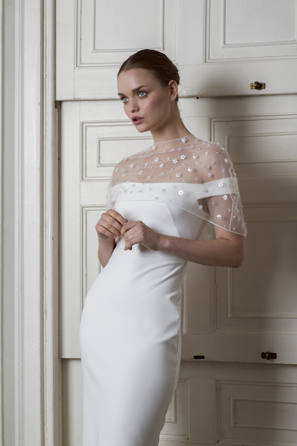 BLOOMSBURY CAPE & HARBOUR DRESS | WEDDING DRESS BY HALFPENNY LONDON