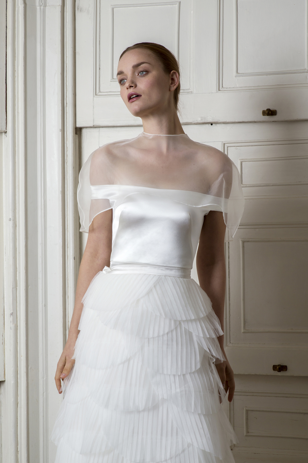 HARBOUR CAPE, HARBOUR TOP & EUSTON SKIRT | WEDDING DRESS BY HALFPENNY LONDON