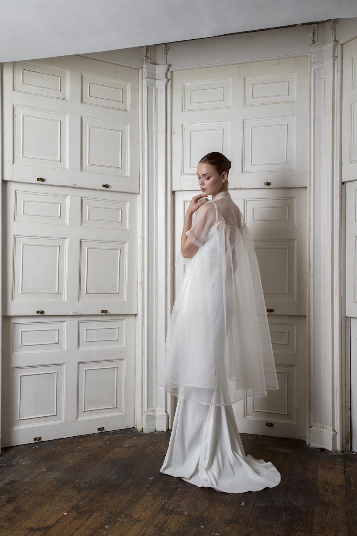 ORGANZA BOW COAT & VICTOR DRESS | WEDDING DRESS BY HALFPENNY LONDON