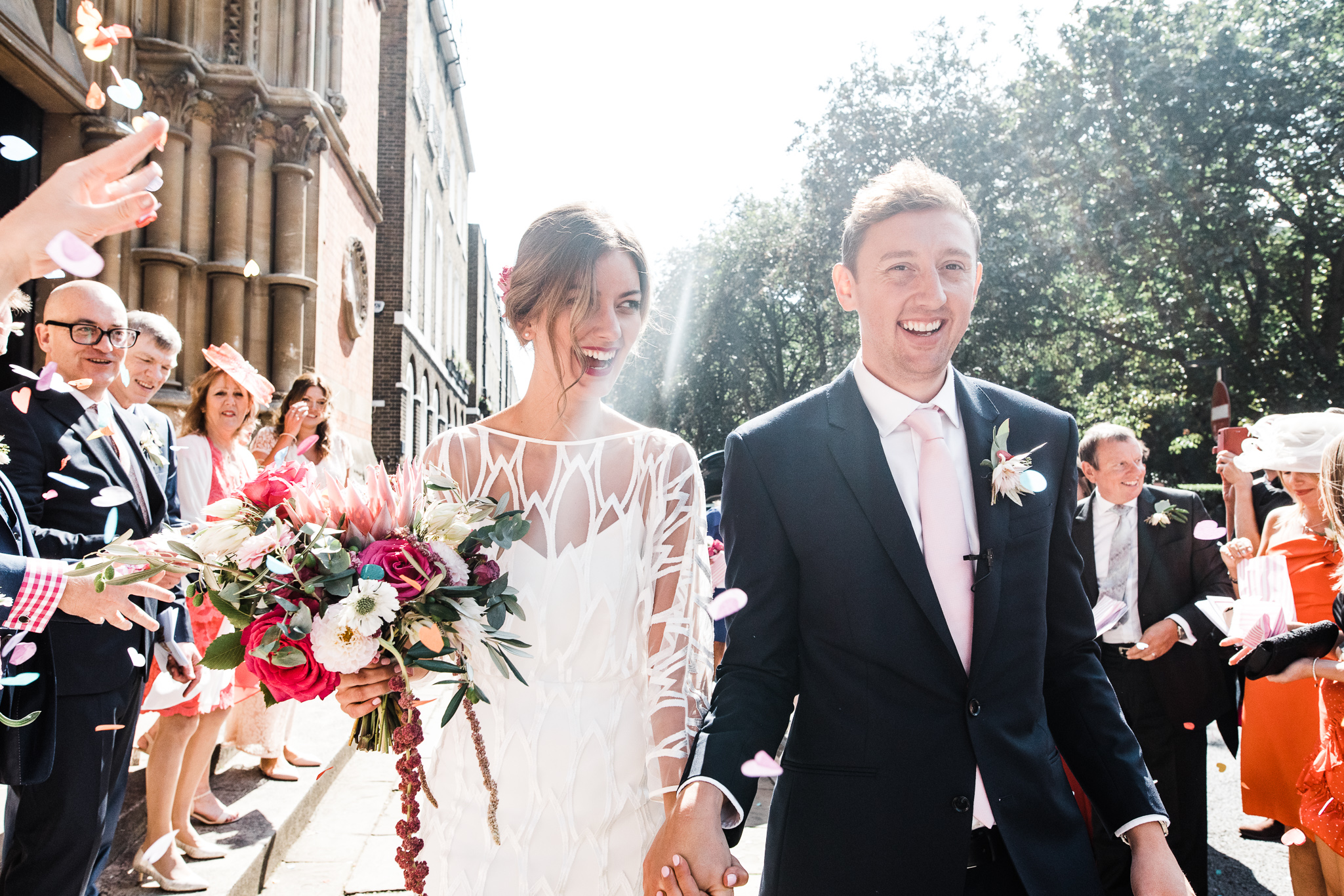 Beautiful bride Natasha wore a wedding dress by Halfpenny London