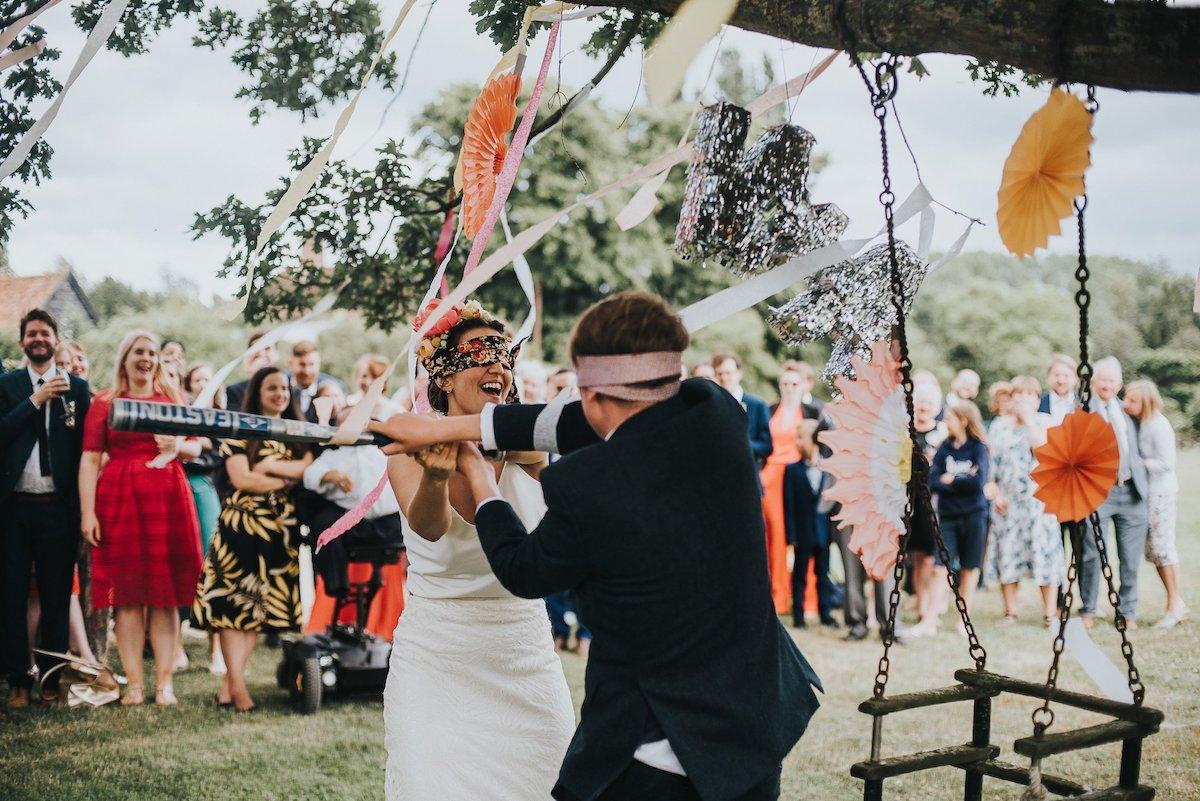 Beautiful bride Ashley wore a wedding dress by Halfpenny London