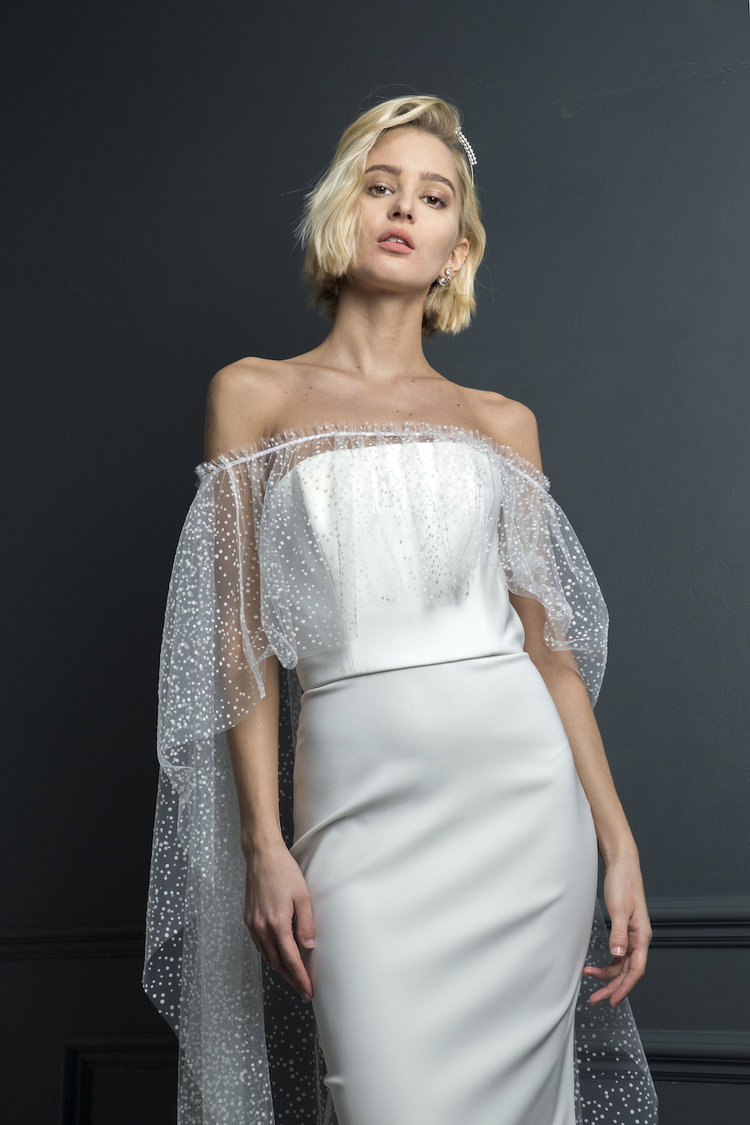 OLIVER DRESS & OSCAR CAPE | WEDDING DRESS BY HALFPENNY LONDON
