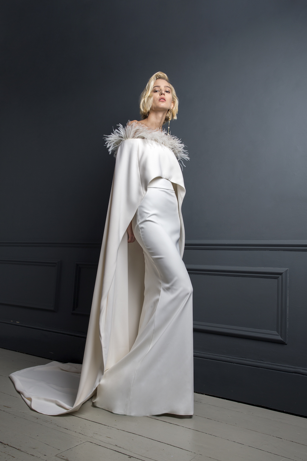 JOSEPH CAPE & VICTOR SLIP | WEDDING DRESS BY HALFPENNY LONDON