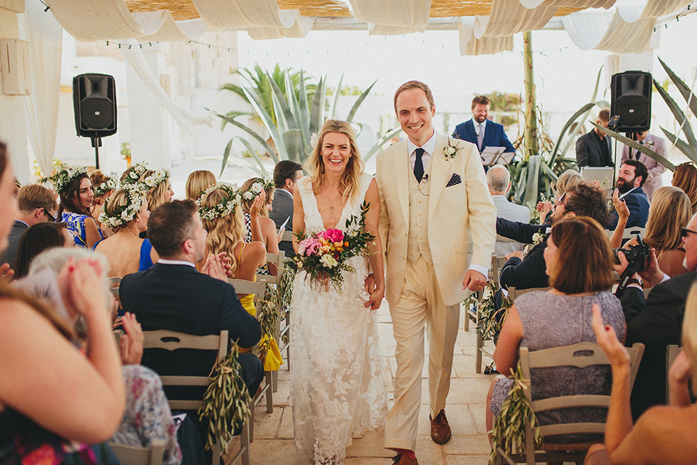 Beautiful bride Jackie wore a wedding dress by Halfpenny London