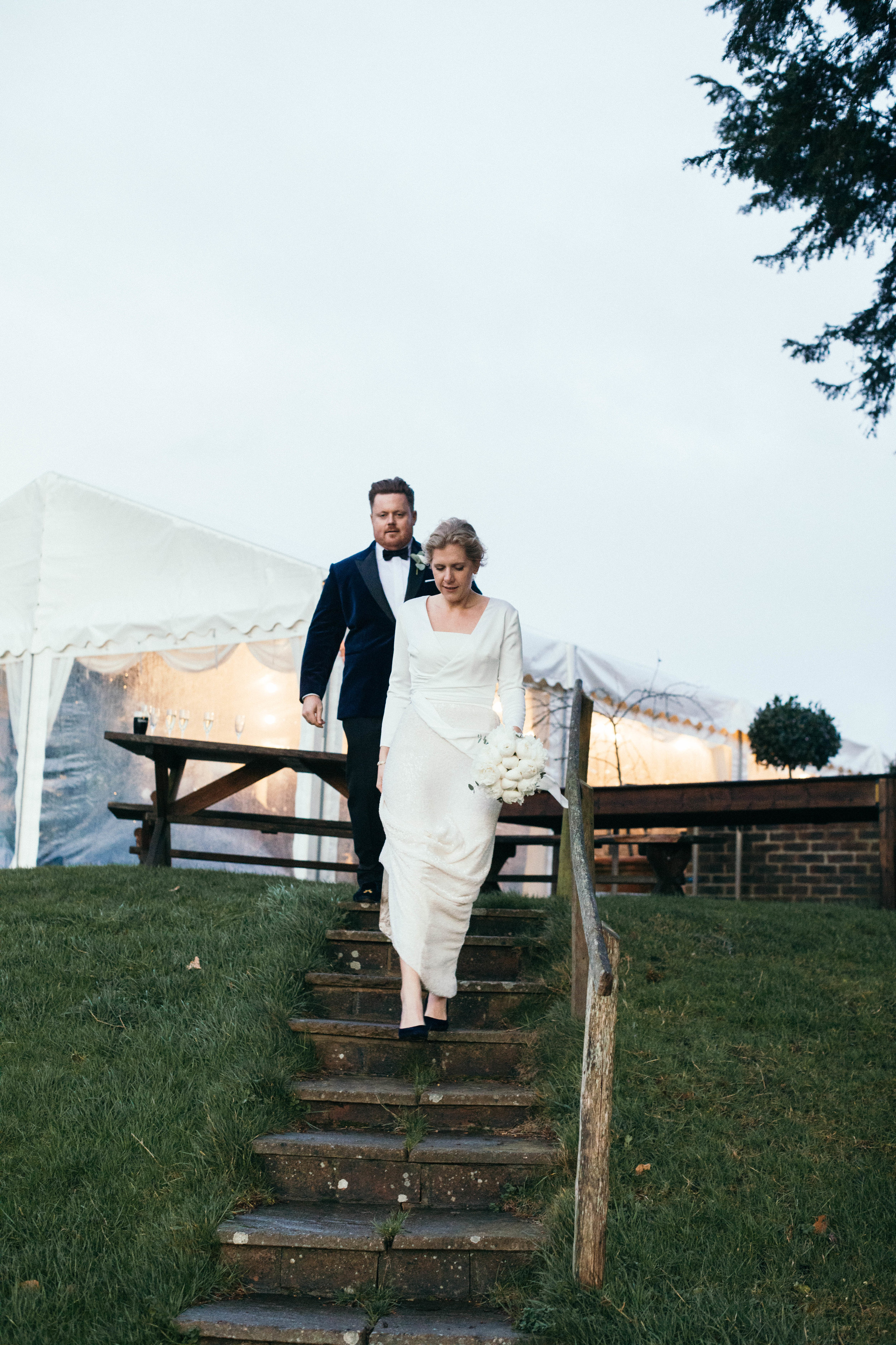 Beautiful bride Anna wore a wedding dress by Halfpenny London