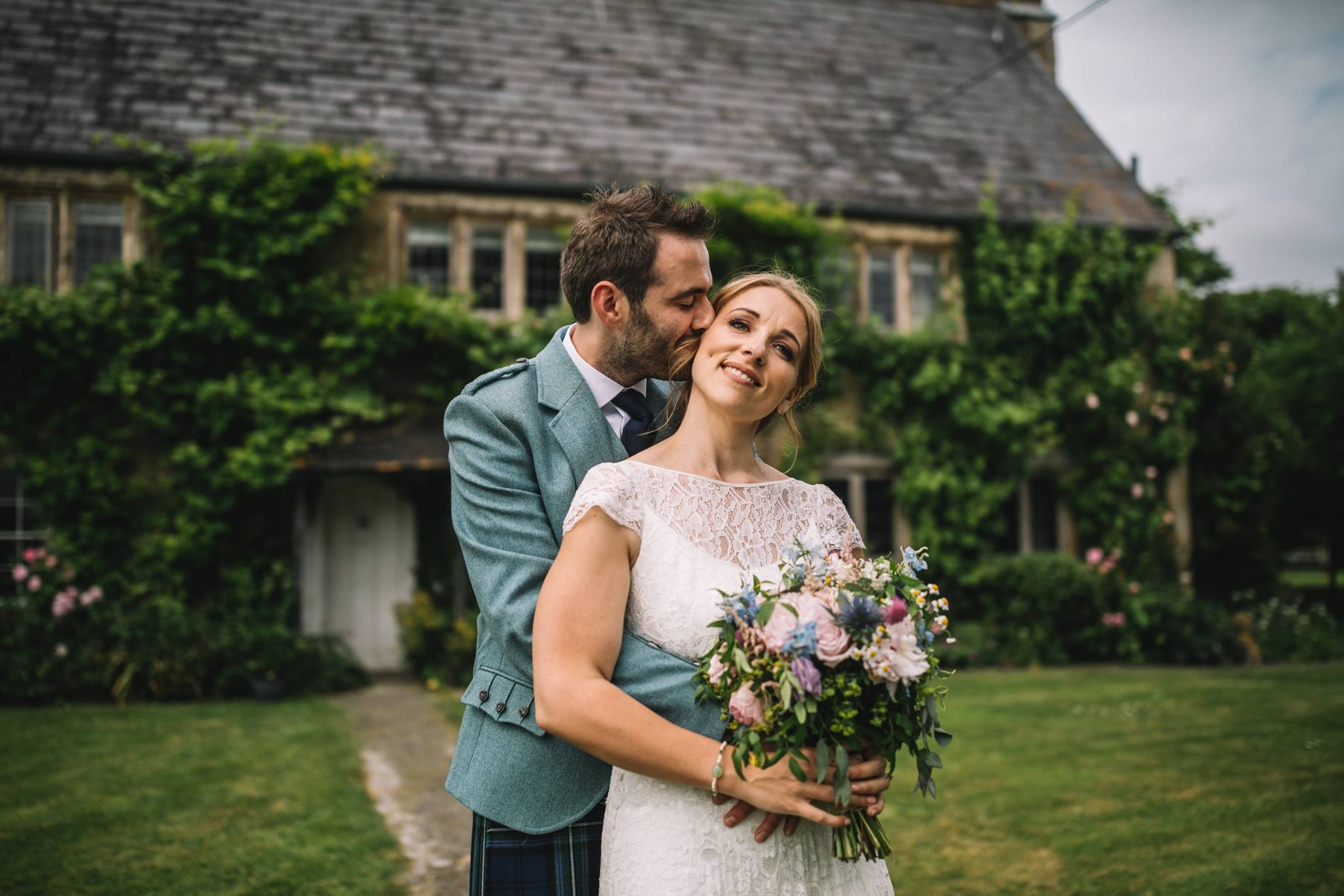 Beautiful bride Amy wore a wedding dress by Halfpenny London
