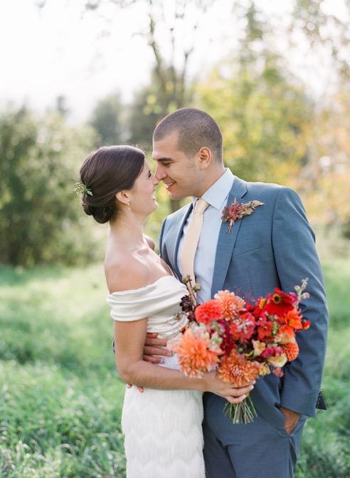 Beautiful bride Hannah wore wedding separates by Halfpenny London
