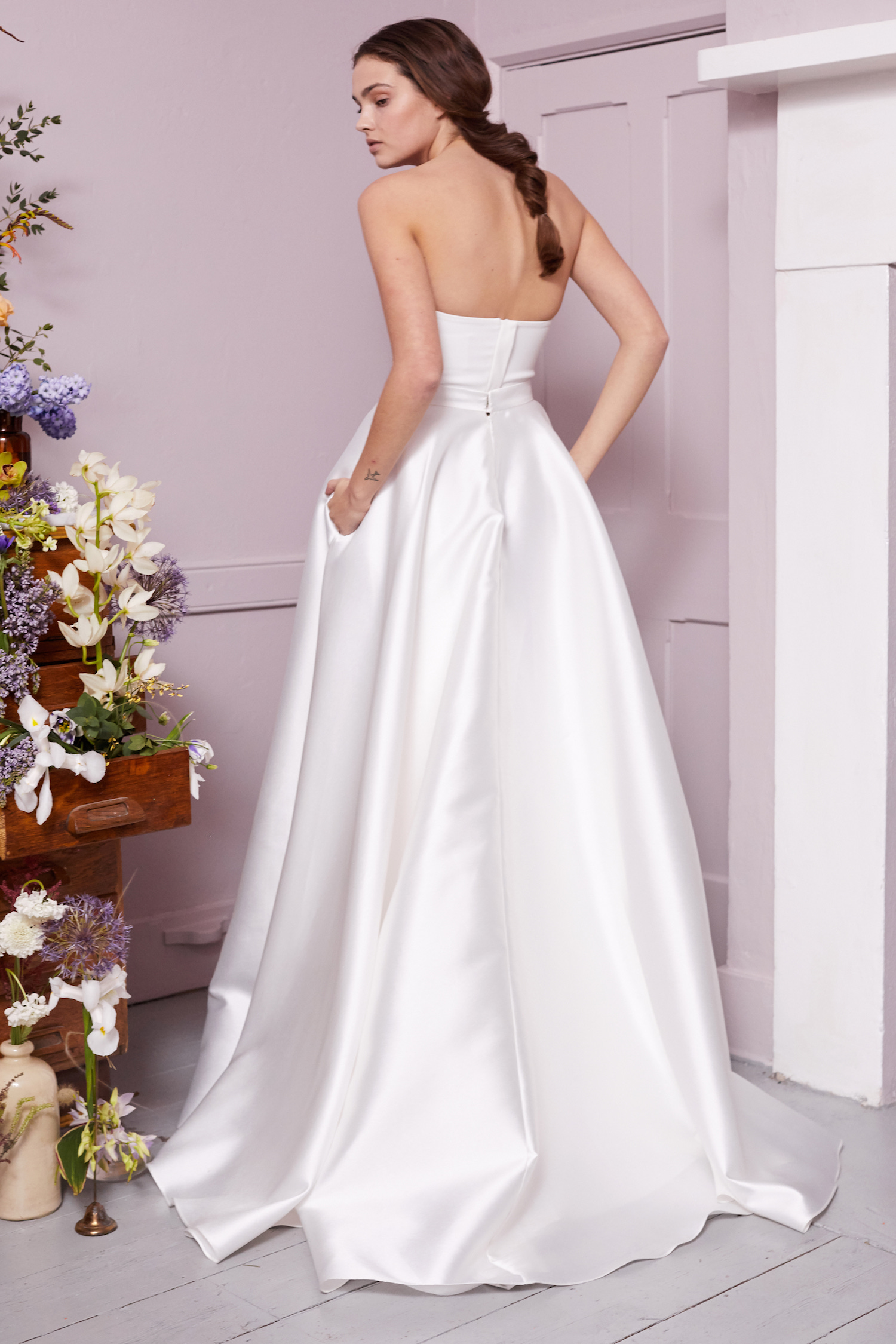 OLIVER CORSET & ELLIE HIGH LOW SKIRT | WEDDING DRESS BY HALFPENNY LONDON