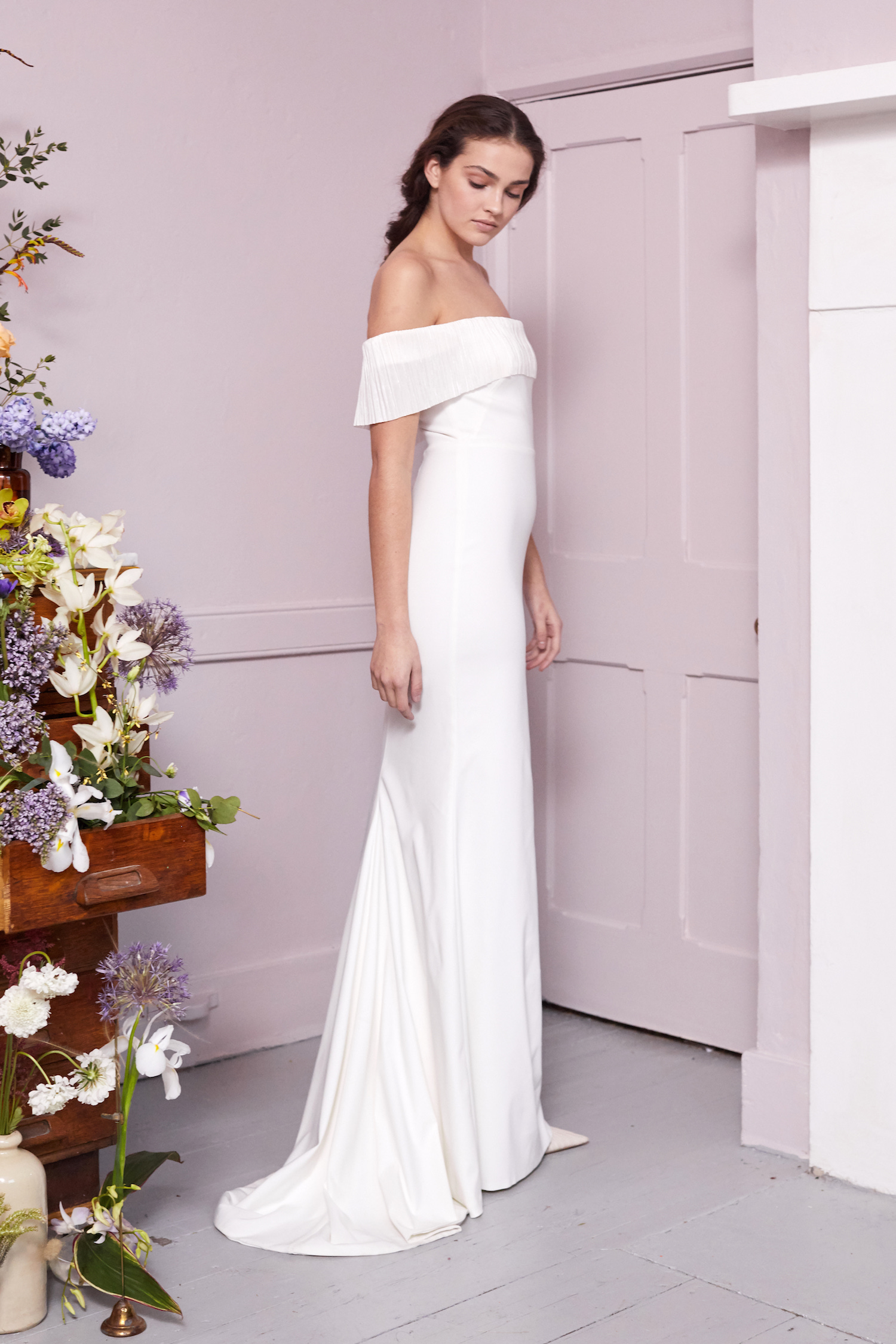 HARBOUR FRILL DRESS | WEDDING DRESS BY HALFPENNY LONDON