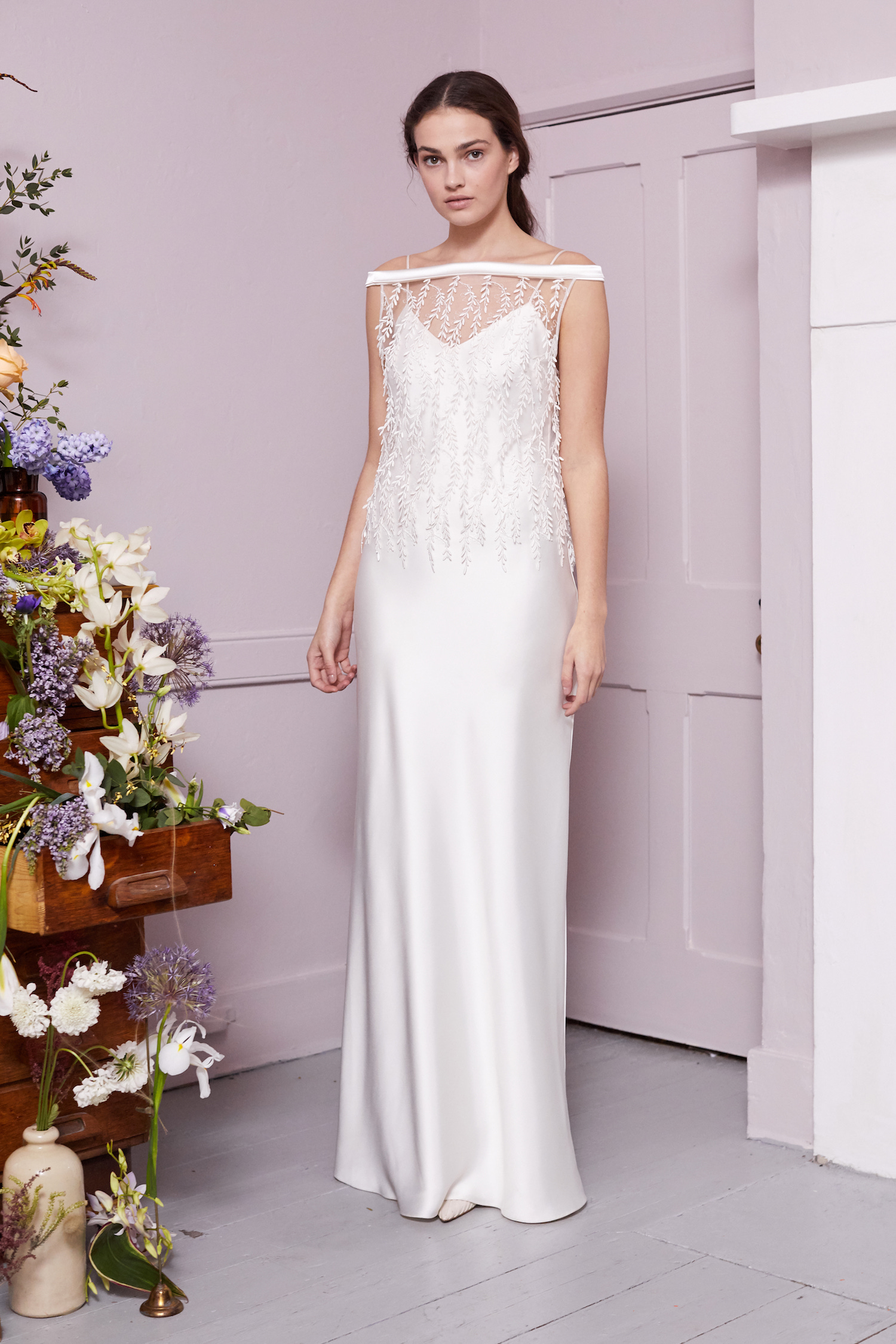 IRENE WILLOW TOP & IRIS SLIP | WEDDING DRESS BY HALFPENNY LONDON