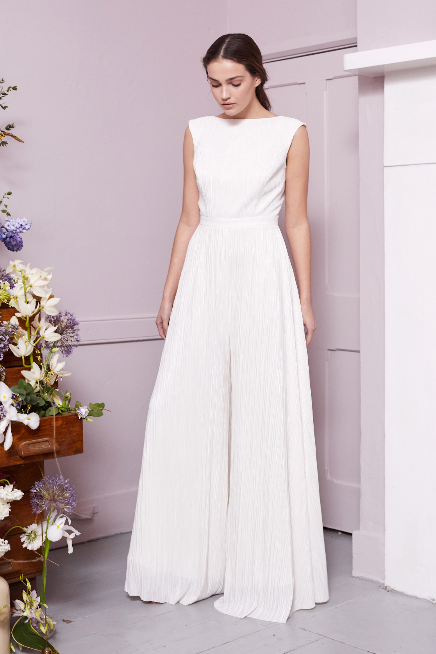 JEFF JUMPSUIT | WEDDING DRESS BY HALFPENNY LONDON