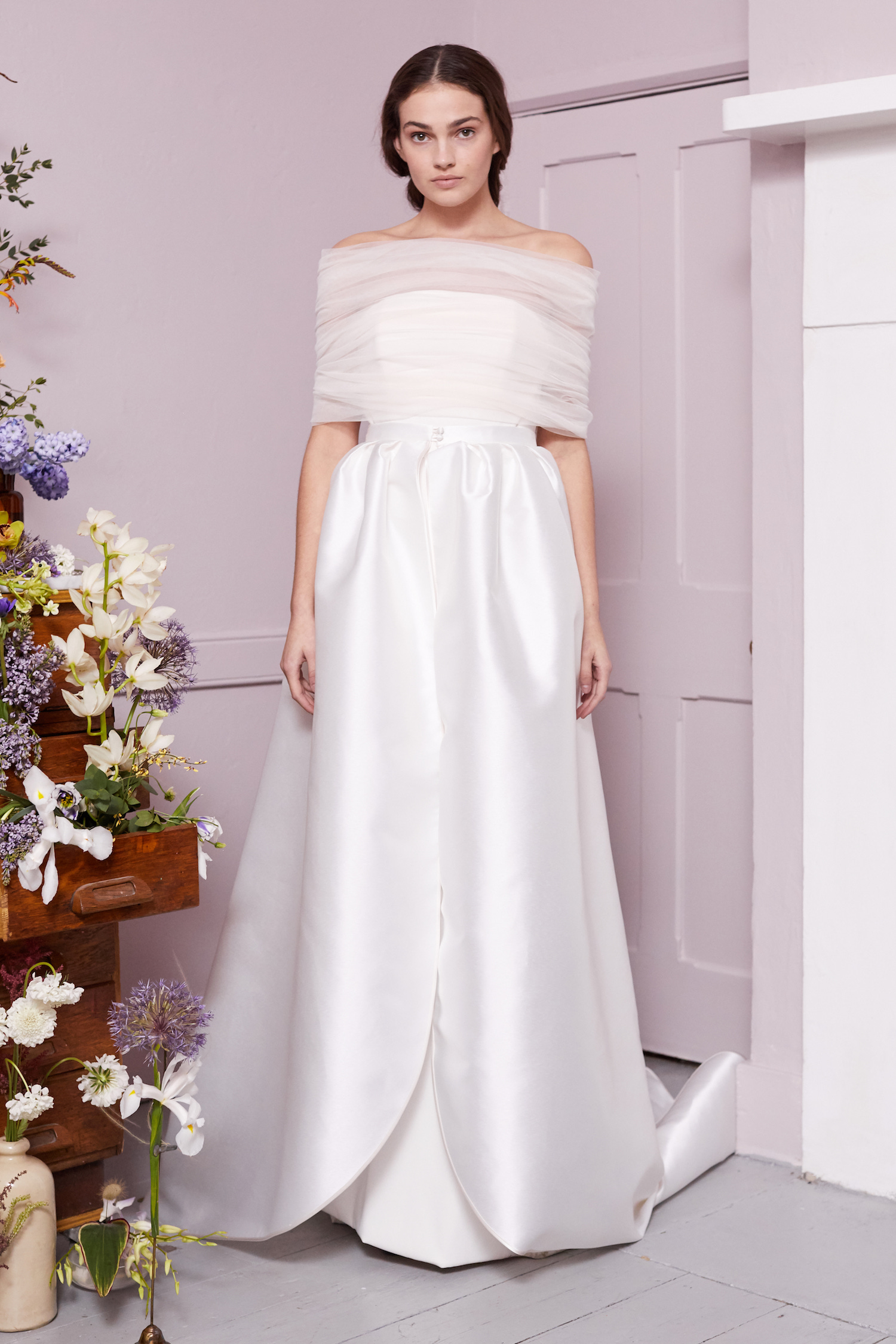 MANET SHRUG & OLVER DRESS | WEDDING DRESS BY HALFPENNY LONDON