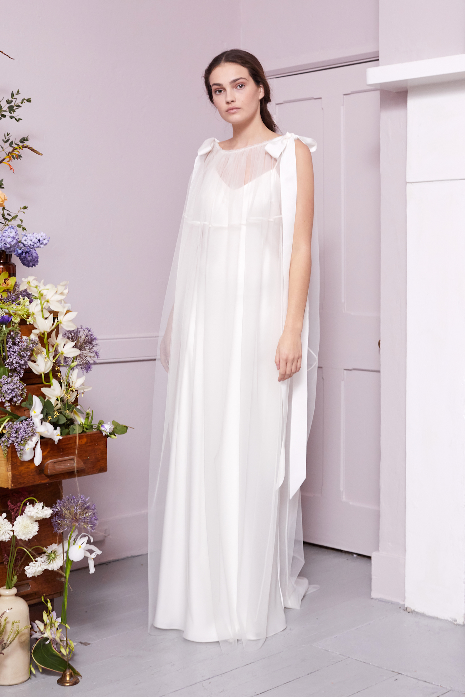 MONDRAIN TABARD & IRIS SLIP | WEDDING DRESS BY HALFPENNY LONDON
