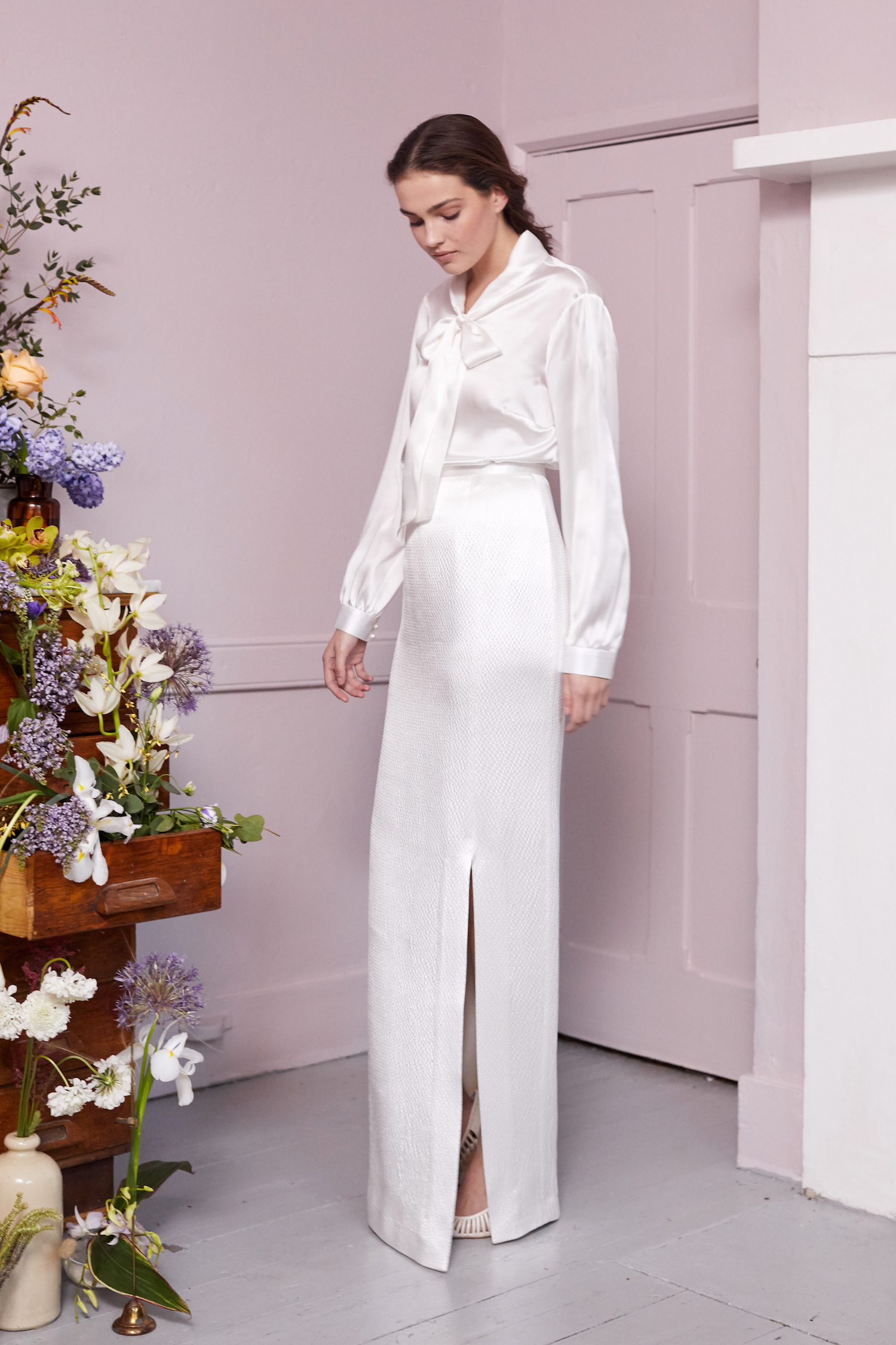 PARRY BLOUSE & ORKO SKIRT | WEDDING DRESS BY HALFPENNY LONDON