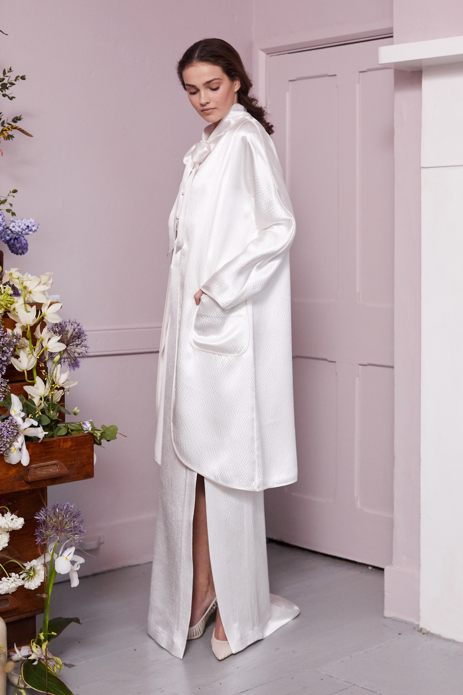 ORKO JACKET, PARRY BLOUSE & ORKO SKIRT | WEDDING DRESS BY HALFPENNY LONDON