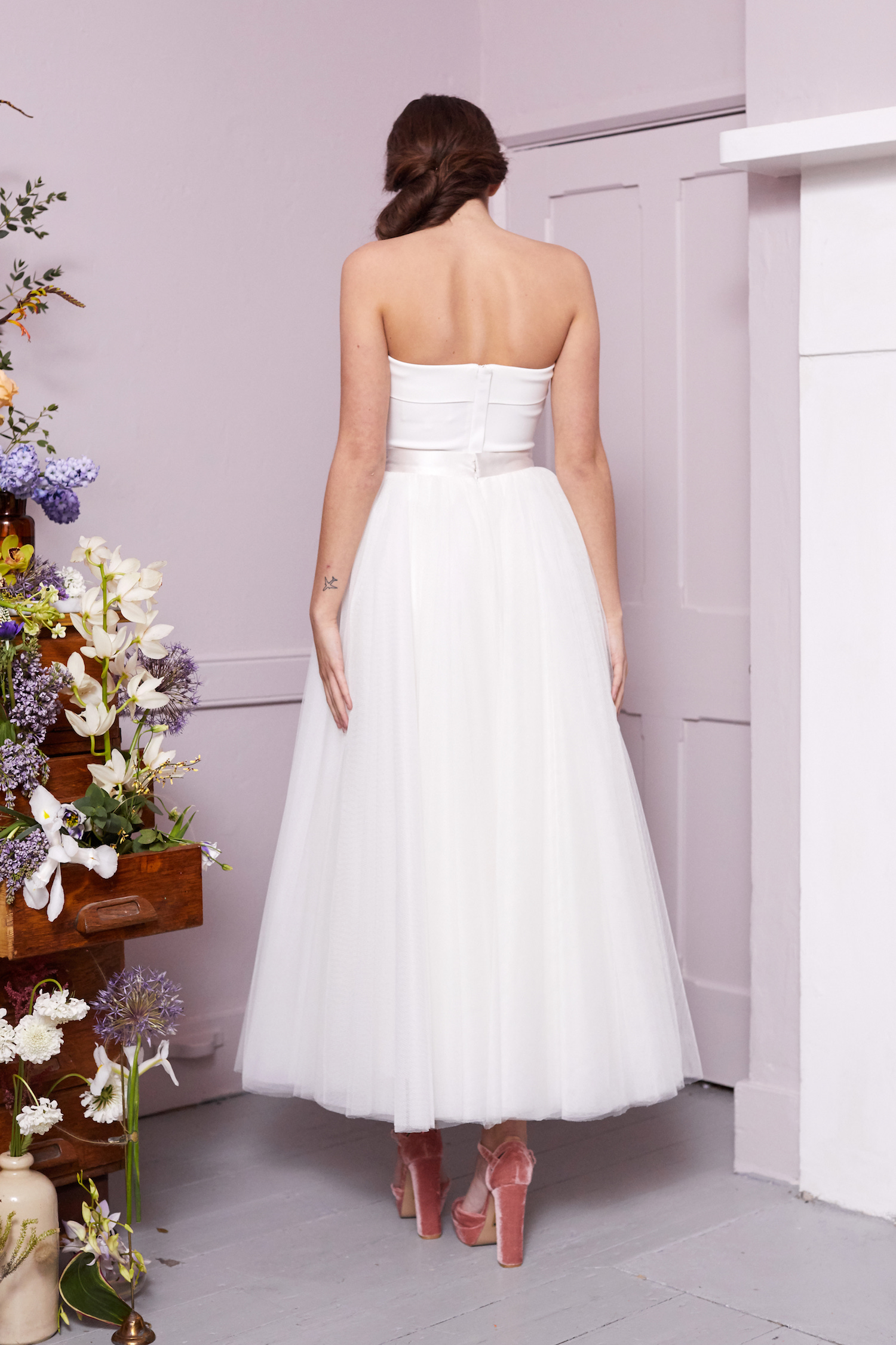 RILEY CORSET & HOCKNEY SKIRT | WEDDING DRESS BY HALFPENNY LONDON