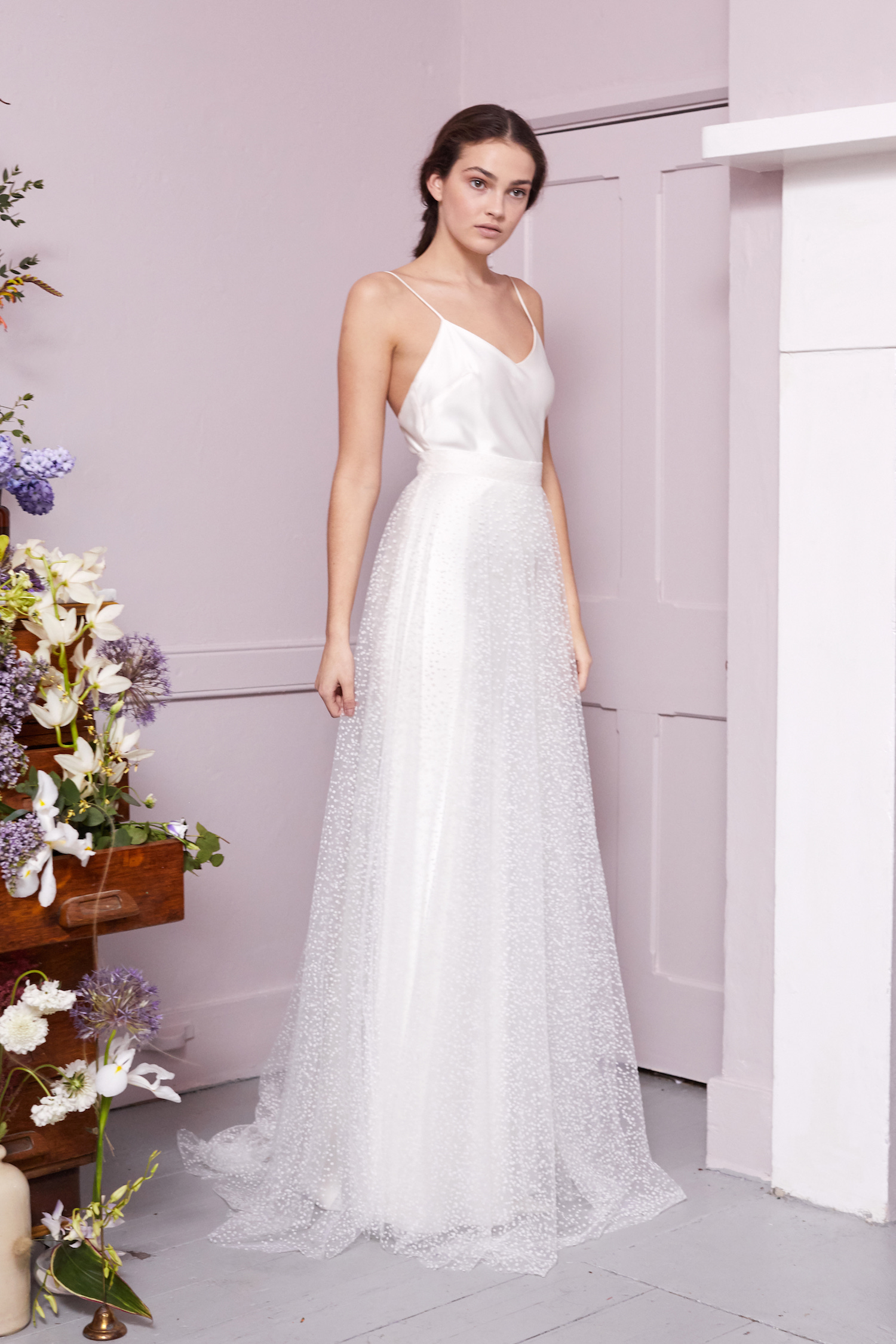SCOTTY SKIRT & IRIS SLIP | WEDDING DRESS BY HALFPENNY LONDON
