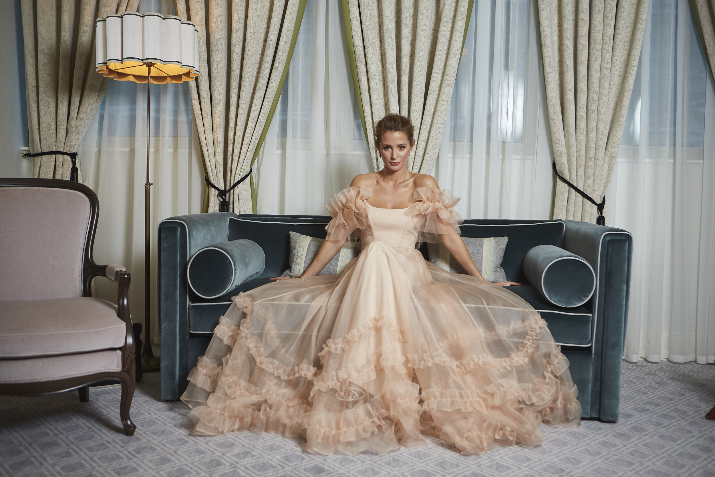 Millie Mackintosh BAFTA dress by Halfpenny London | Image by Hannah Taylor