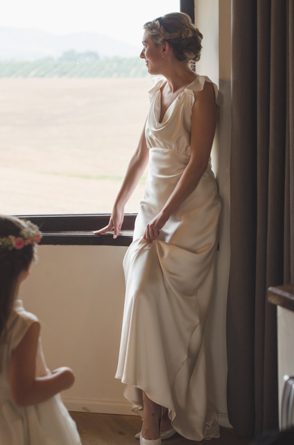 Beautiful bride Ruth wore a wedding dress by Halfpenny London