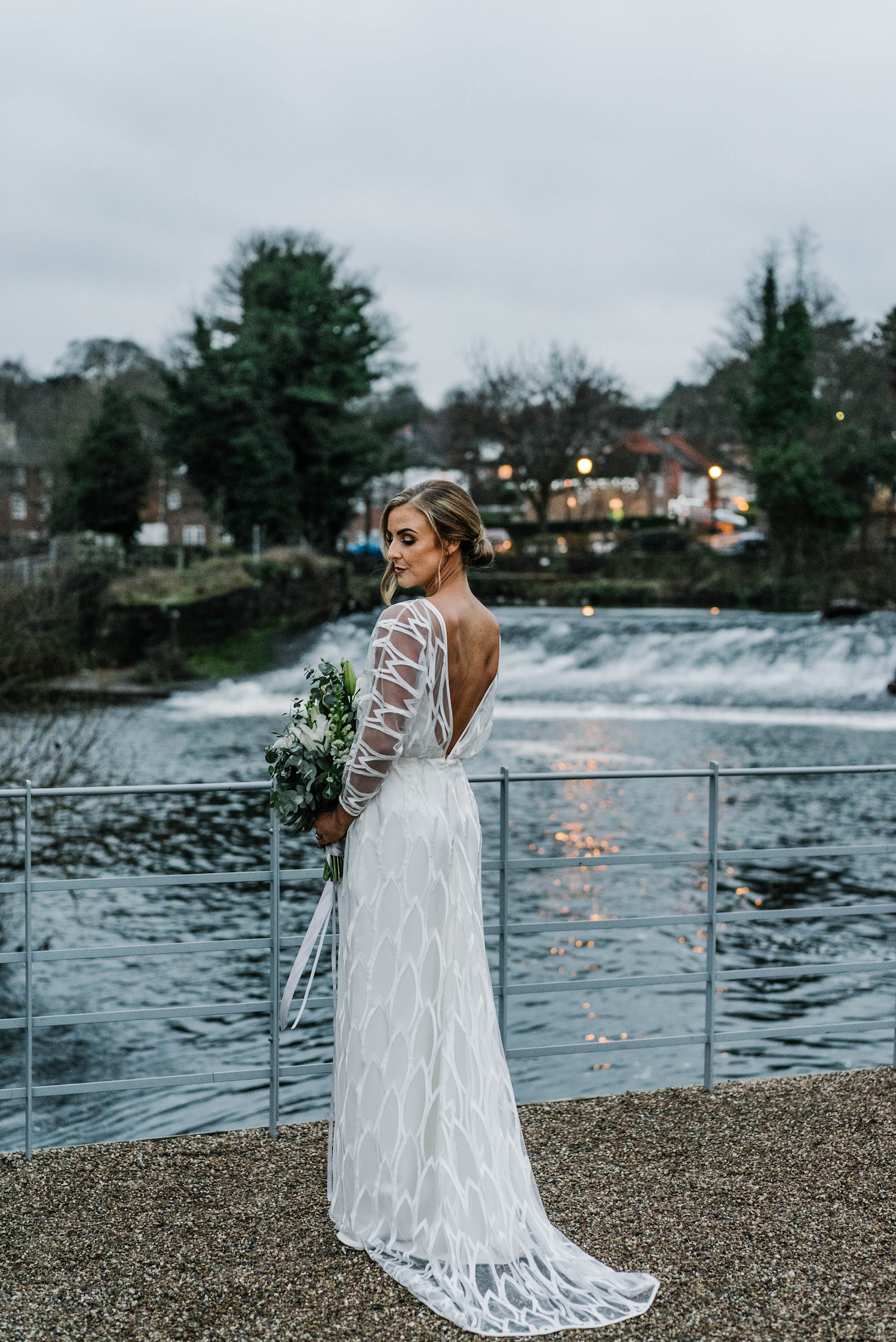 Beautiful bride Chloe wore a wedding dress by Halfpenny London
