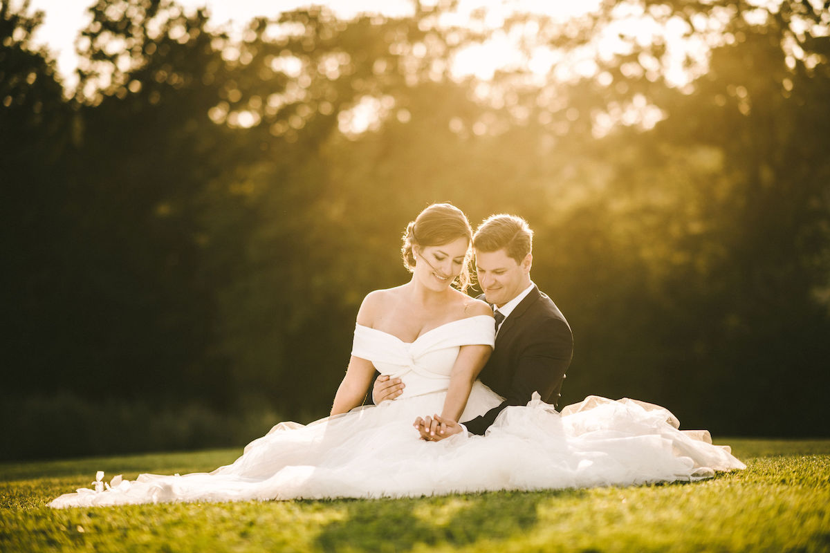 Beautiful bride Lilli wore a wedding dress by Halfpenny London