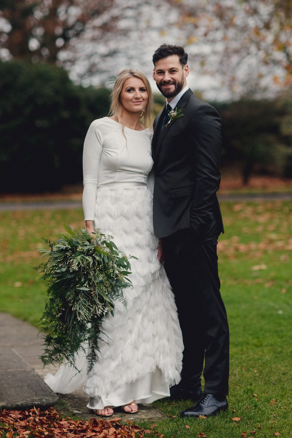 Beautiful bride Leanne wore a wedding dress by Halfpenny London