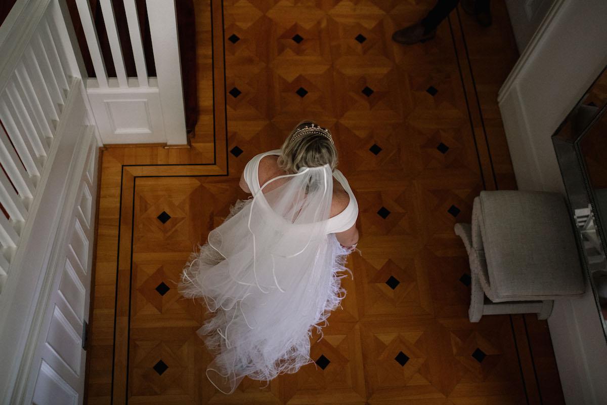 Beautiful bride Briony wore a wedding dress by Halfpenny London
