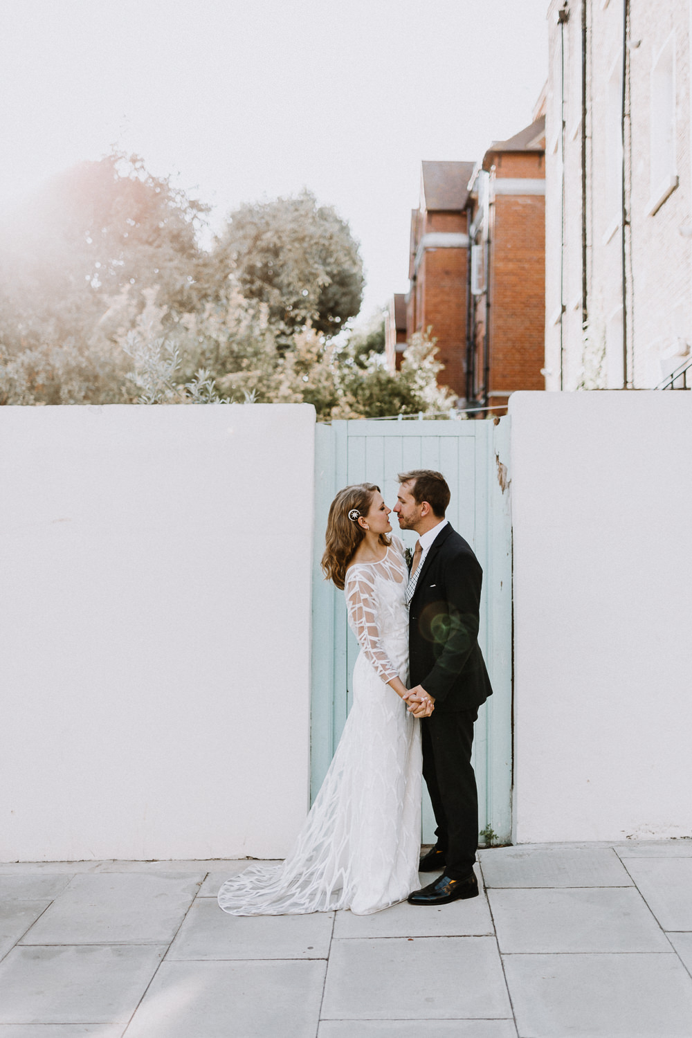 Beautiful bride Chloe wore a wedding dress by Halfpenny London | Image by Caitlin and Jones (http://www.caitlinandjones.co.uk/)