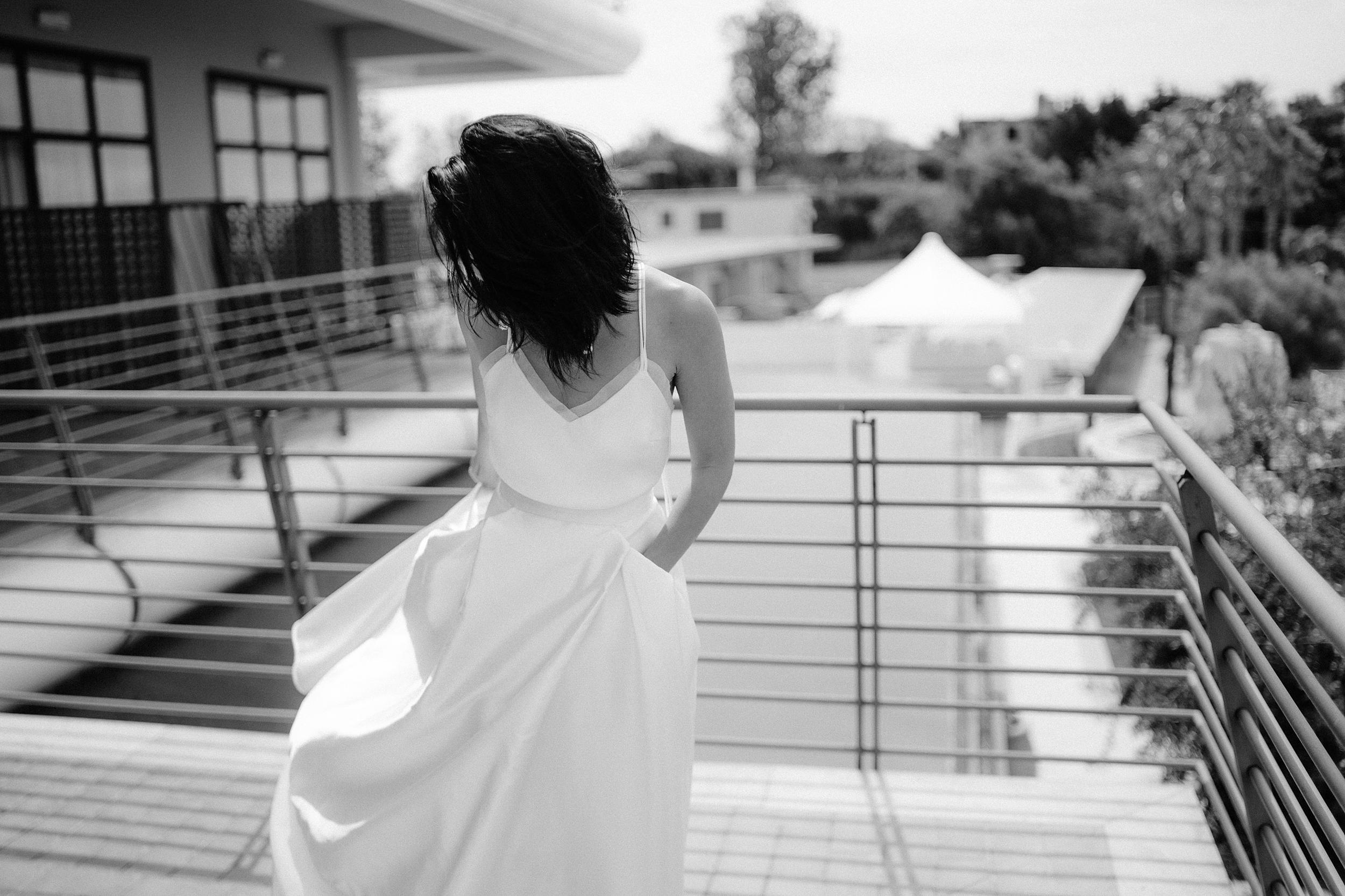 Beautiful bride Cindy wore a wedding dress by Halfpenny London