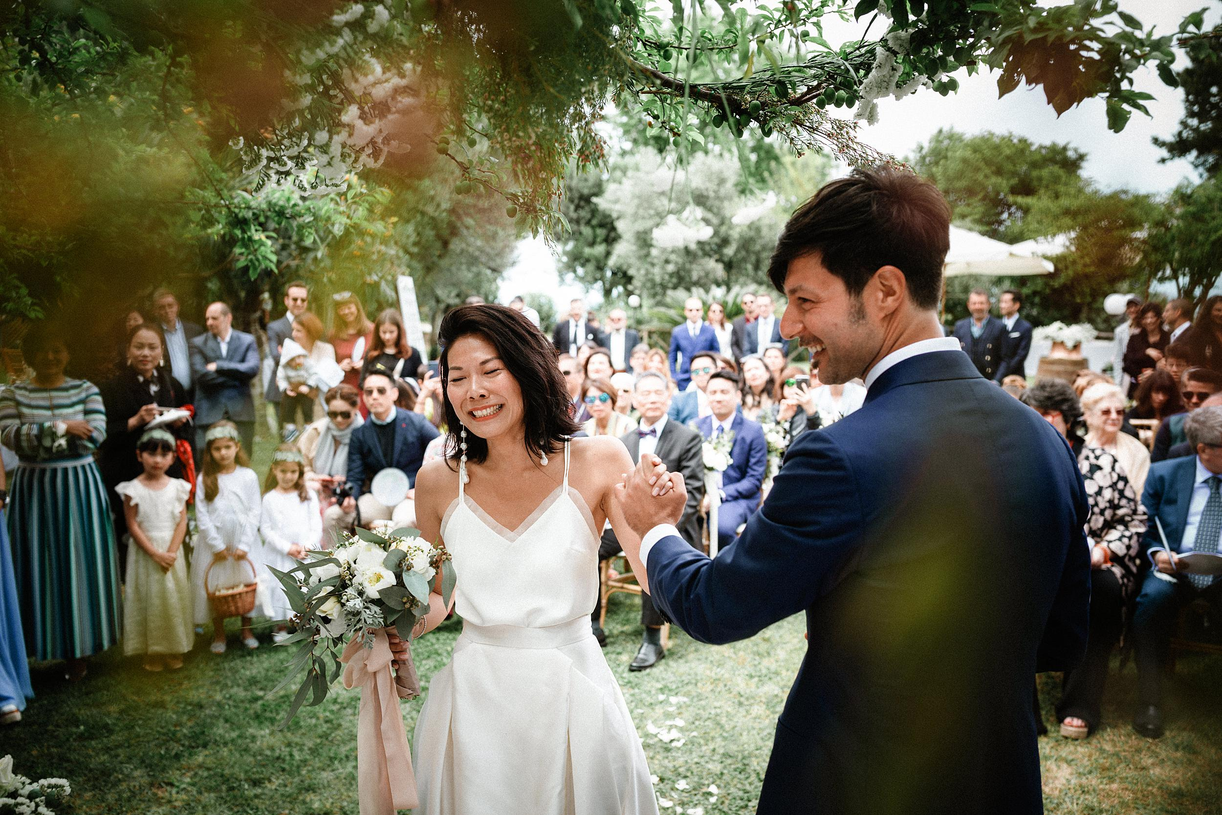 Beautiful bride Cindy wore a wedding dress by Halfpenny London