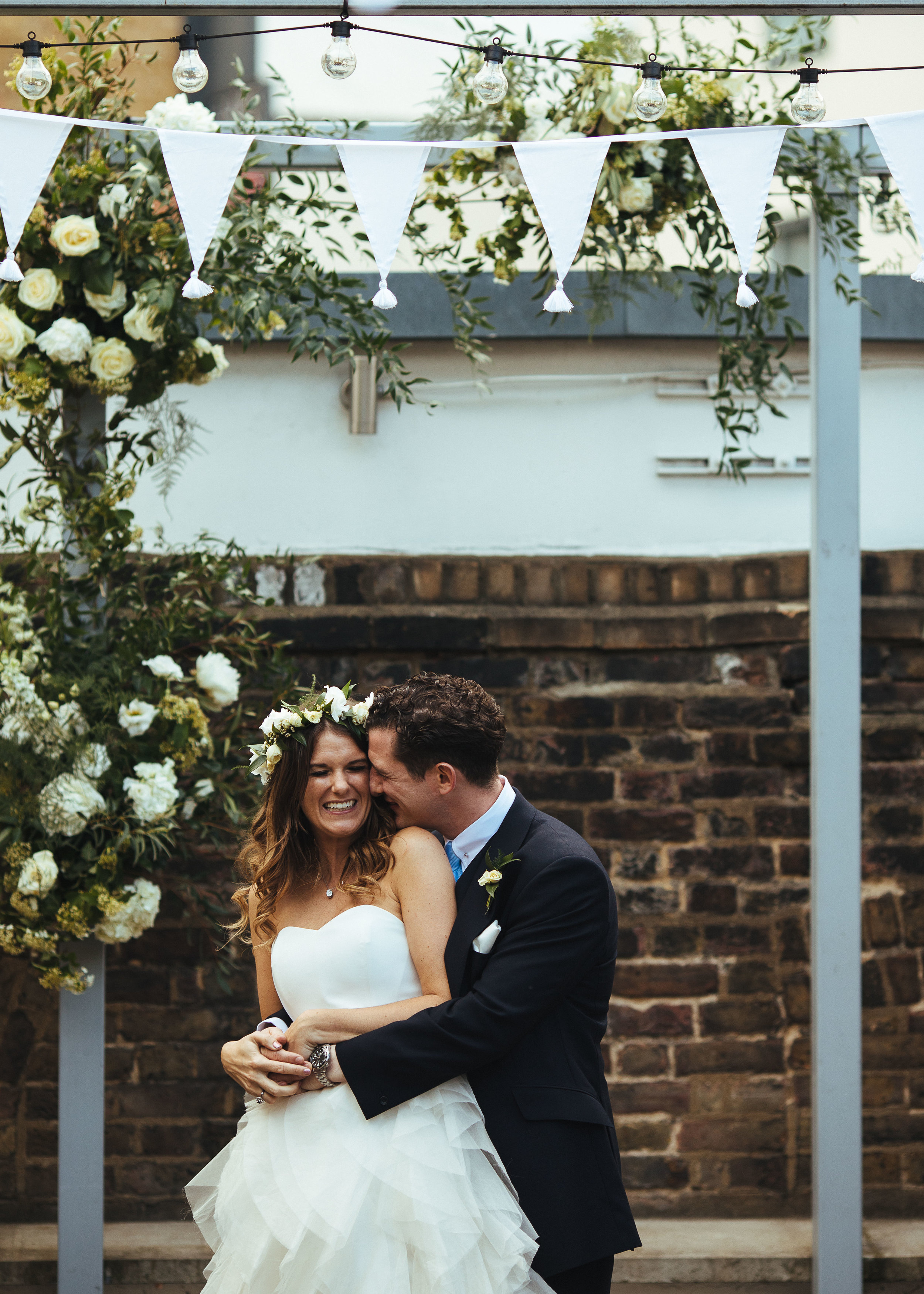 Beautiful Juliet wore a wedding dress by Halfpenny London