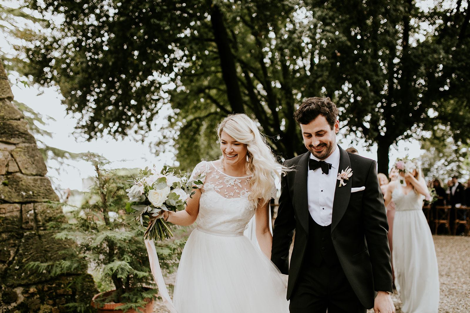 Beautiful bride Elise wore a wedding dress by Halfpenny London