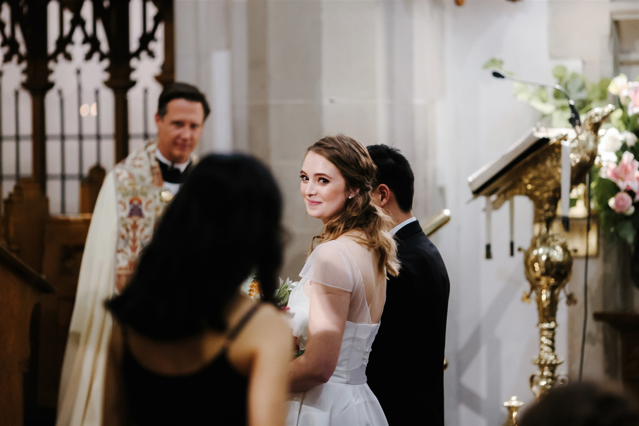Beautiful bride Esther wore a wedding dress by Halfpenny London