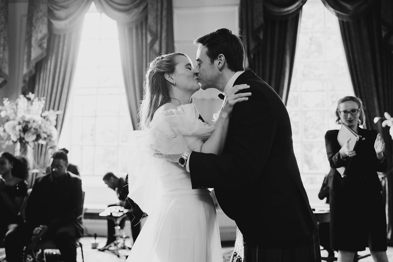 Beautiful bride Marie-Eve wore a wedding dress by Halfpenny London