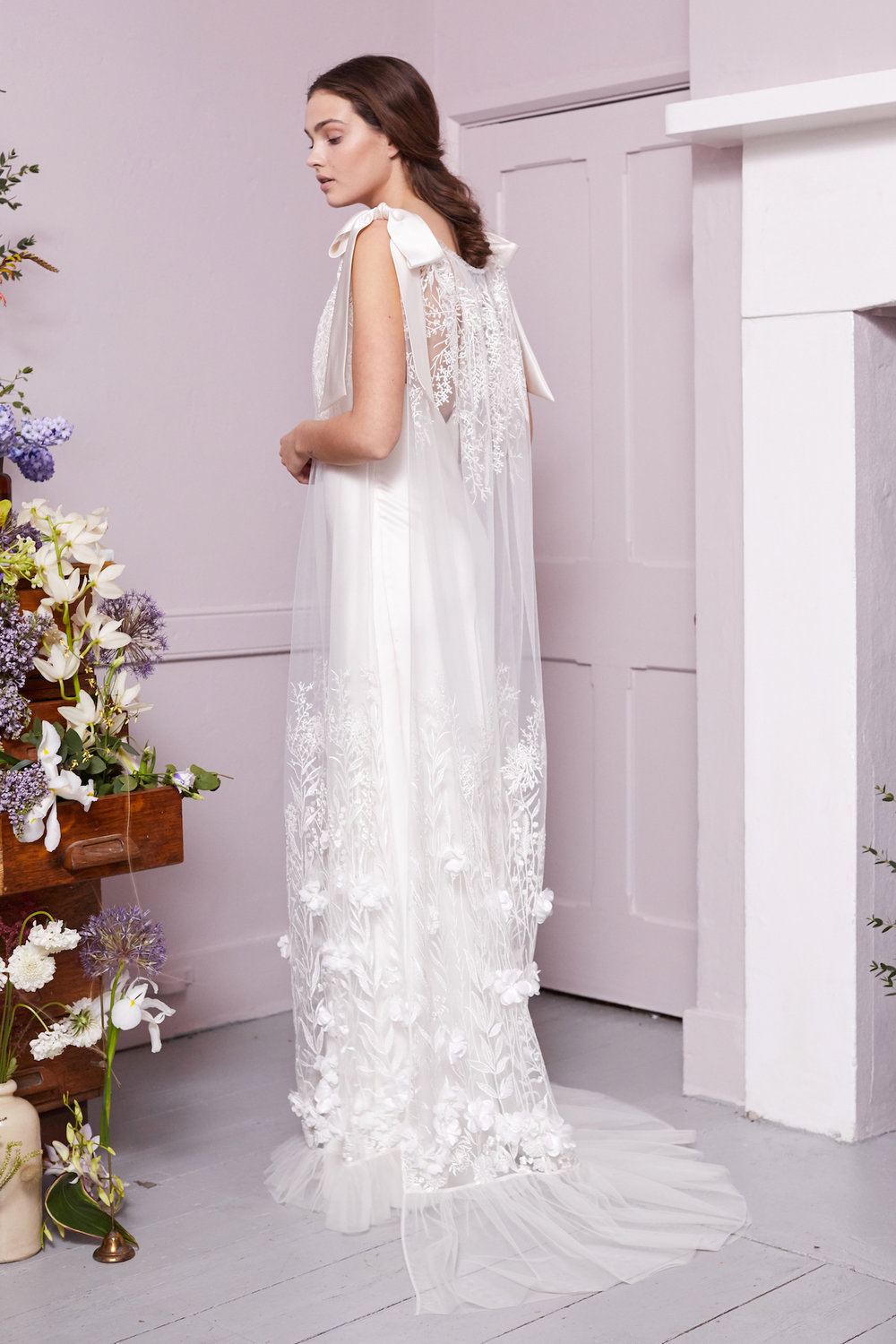 MONET TABARD & IRIS SLIP | WEDDING DRESS BY HALFPENNY LONDON