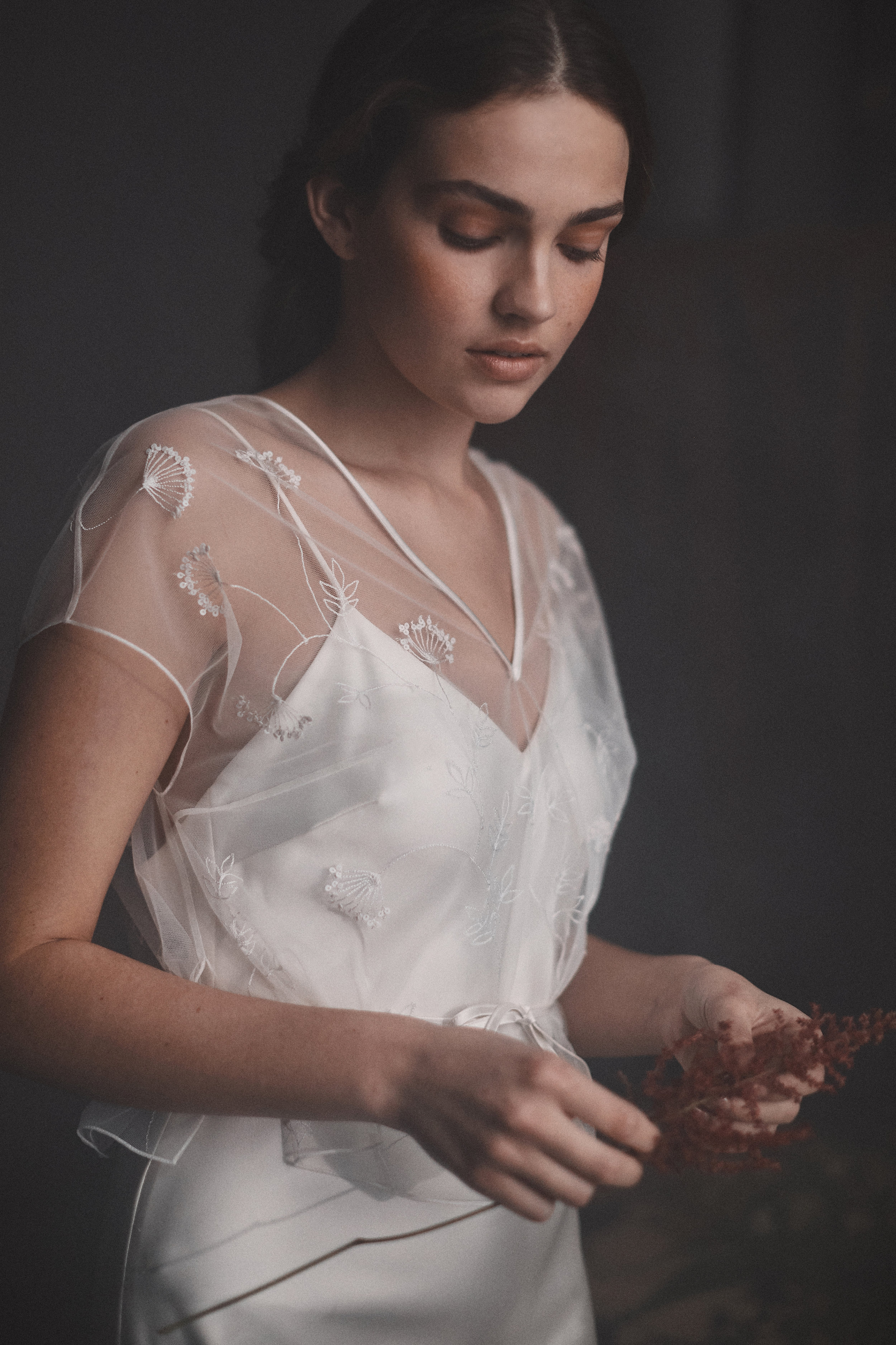 Embroidered Coppin top | Halfpenny London wedding dresses