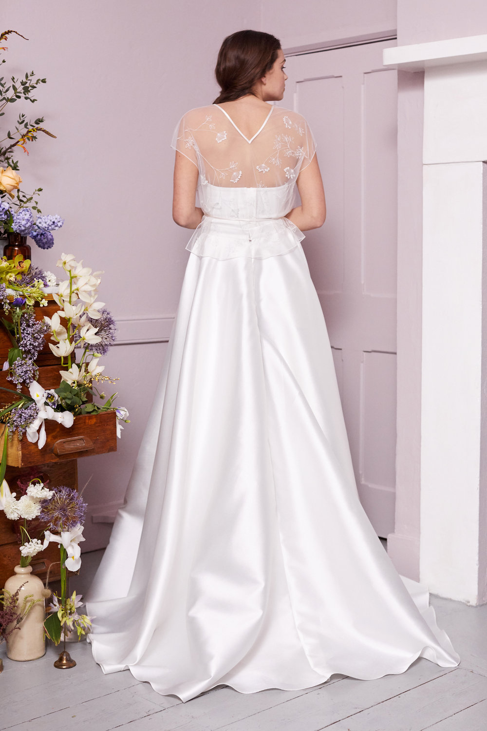 COPPIN TOP, OLIVER CORSET & ELLIE HIGH LOW SKIRT | WEDDING DRESS BY HALFPENNY LONDON